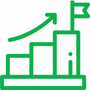 icon of increasing bar graph